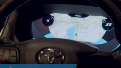 Renesas R-Car H2 SoC & QNX Car infotainment demo.