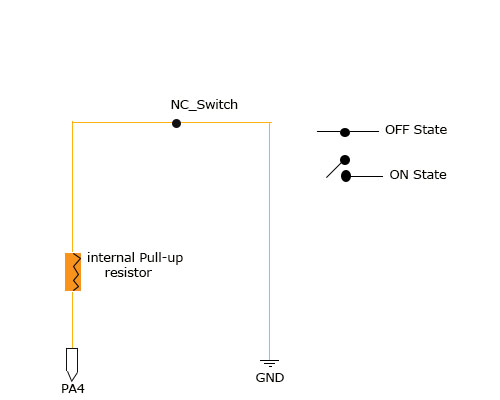 Connecting a Normal-Close switch to a microcontroller